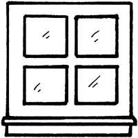 Sash Window Coloring Pages Surfnetkids