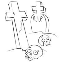 Skulls In Cemetery