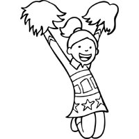 Cheerleading Coloring Pages Surfnetkids