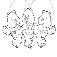 Three Care Bears