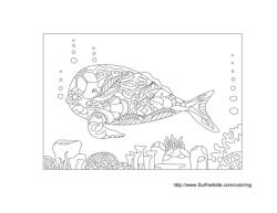 Whale Zentangle