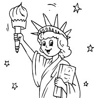 Statue of Liberty Coloring Pages Surfnetkids