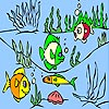 Fishes Under the Sea Coloring
