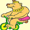 Bear on a Bicycle Coloring