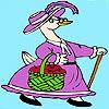 Madam Duck Coloring