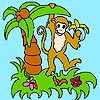 Monkey in the Jungle Coloring