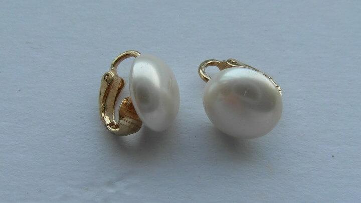 Side Drilled Pearl Earrings