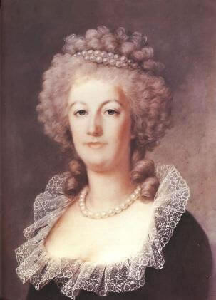 Portrait of Marie Antoinette. by Alexandre Kucharski, France