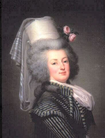 Marie Antoinette in Hunting Dress. by Adolf Ulrich Wertmüller, 1788, Versailles