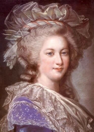Portrait of Marie Antoinette. by Alexandre Kucharski, after the portrait by Louise Élisabeth Vigée Le Brun for the Ministère des Affaires Etrangères 1785