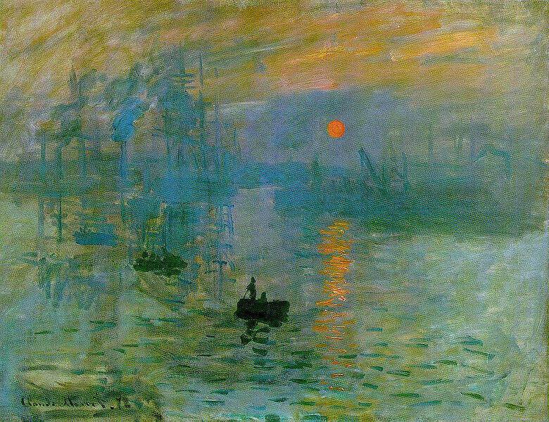 Impression, Sunrise, 1872, Claude Monet, Musée Marmottan Monet, Paris