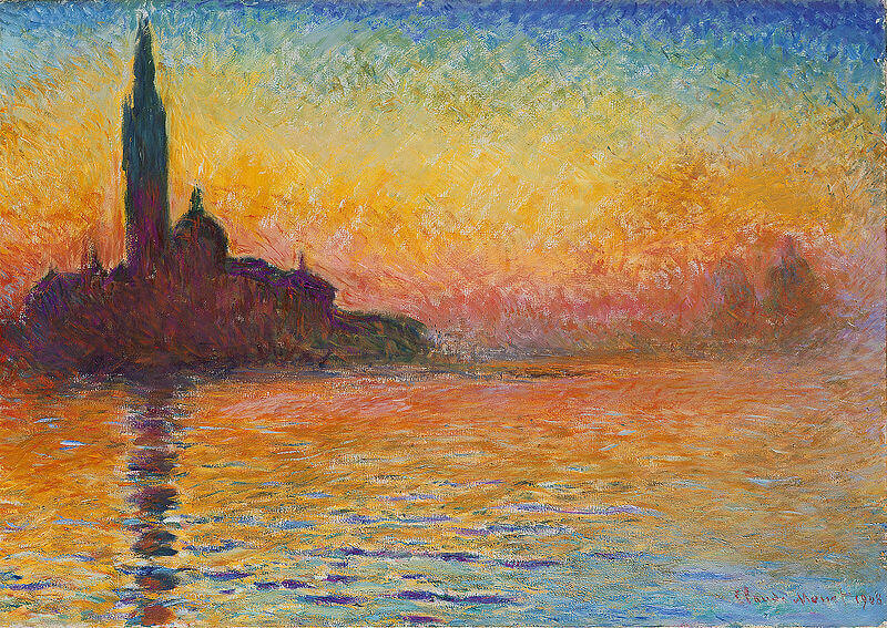 San Giorgio Maggiore at Dusk, 1908, Claude Monet, National Museum Cardiff, Cathays Park, Cardiff, Wales