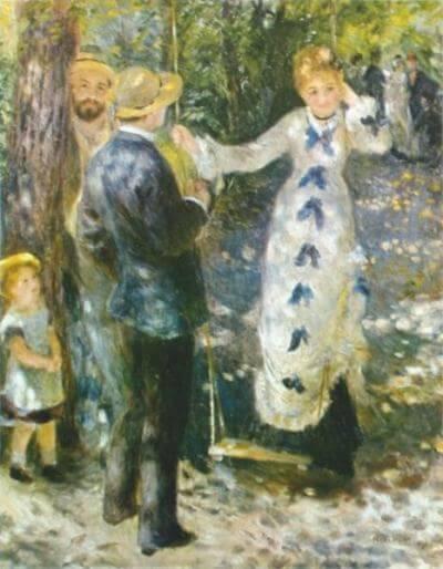The Swing (La Balançoire), 1876, Pierre-Auguste Renoir, Musée d'Orsay, Paris