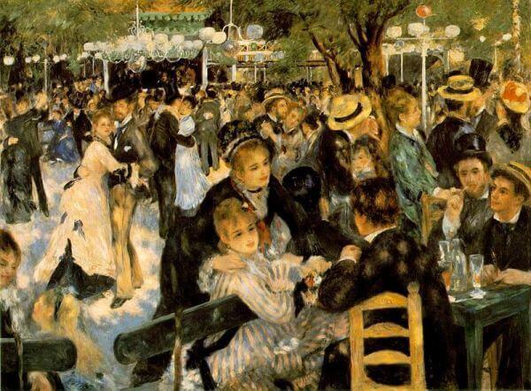 Dance at Le Moulin de la Galette, 1876, Pierre-Auguste Renoir, Musée d'Orsay, Paris