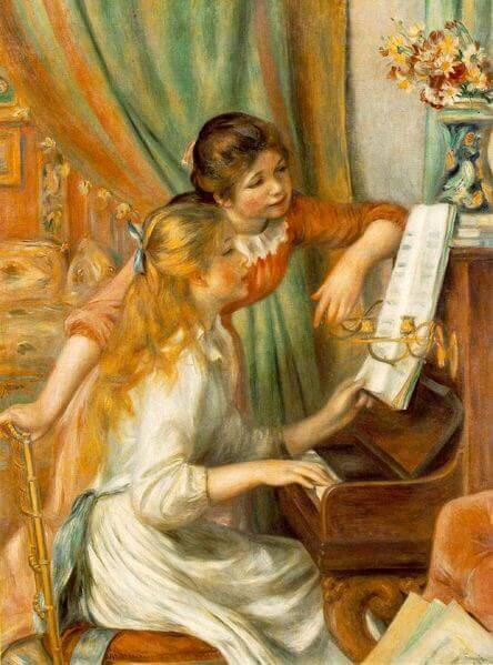 Girls at the Piano, 1892, by Pierre-Auguste Renoir, Musée d'Orsay, Paris.