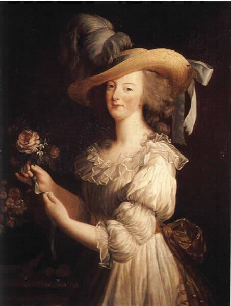Marie-Antoinette by Louise Élisabeth Vigée Le Brun, 1783.