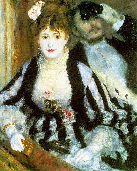 The Theater Box, 1874 by Pierre-Auguste Renoir, Courtauld Institute Galleries, London.