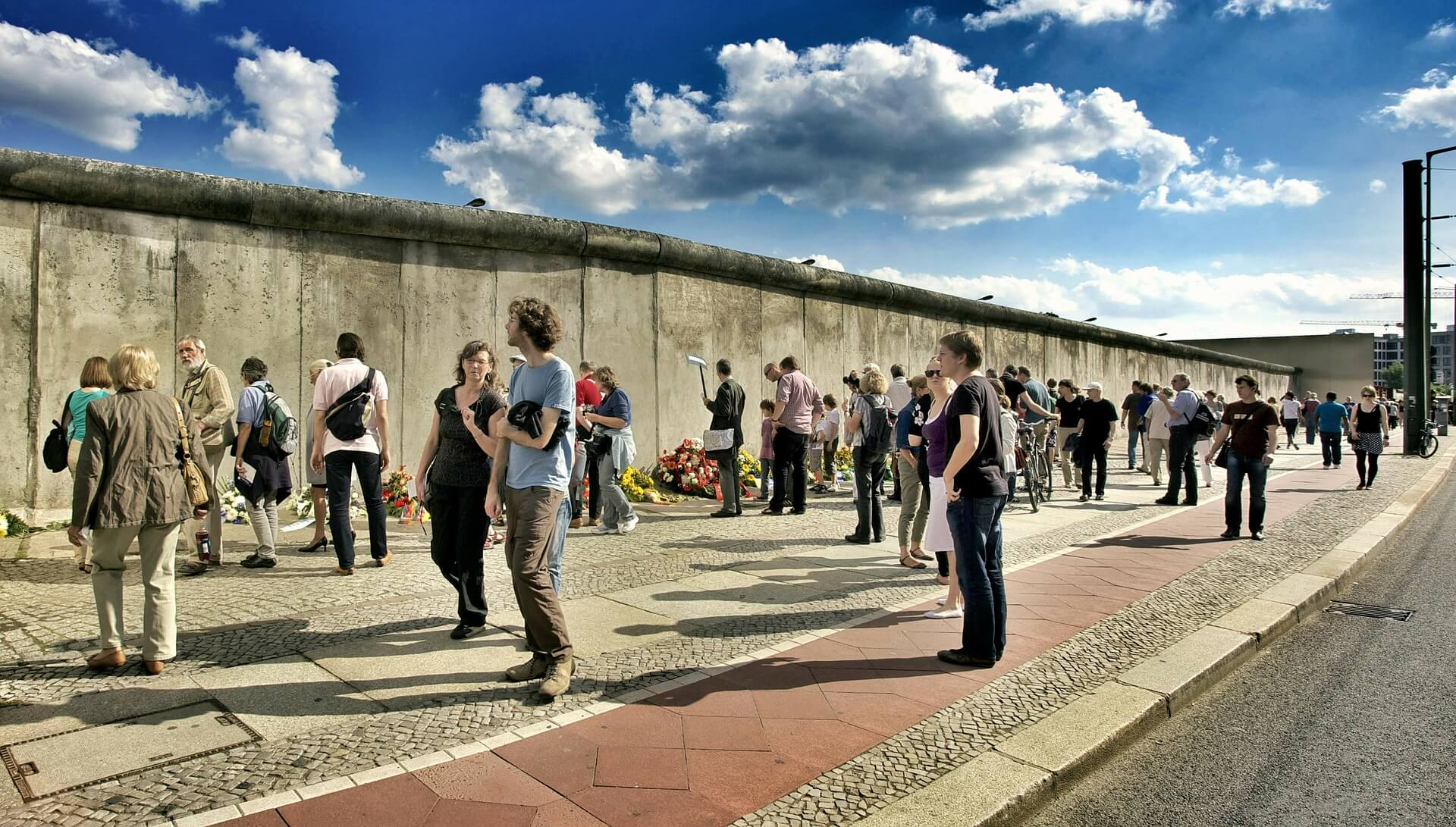Berlin Wall With Lots Of People