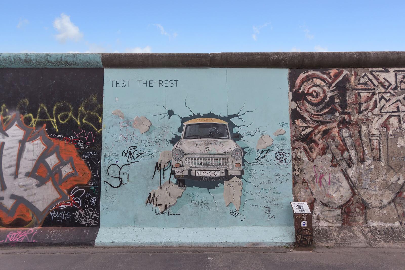 Graffiti On Berlin Wall, East Side Gallery