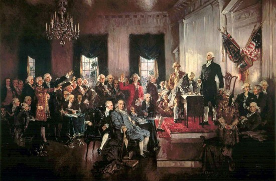 Scene At The Signing Of The Constitution Of The United States E