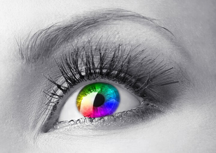 Beautiful Colorful Eye Close U