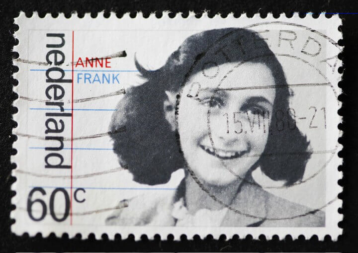 Dutch Stamp With Image Of Anne