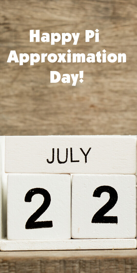 Because July 22 is 22/7 in the European date format, it is celebrated as Pi Approximation Day. #piday #pi #k12 #math
