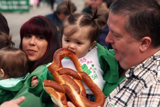 Big Pretzel, Little Girl,