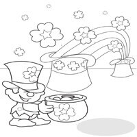 Leprechaun Treasure Coloring Page